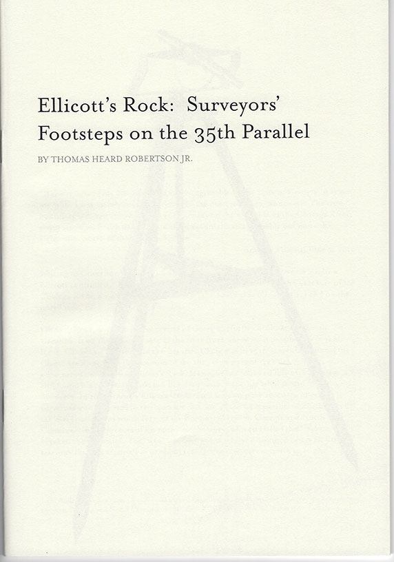 Ellicott's Rock Cover | Tom Robertson Books