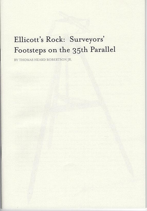Ellicott's Rock Cover | Tom Robertson Books